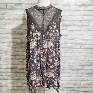 Torrid lace and floral print dress